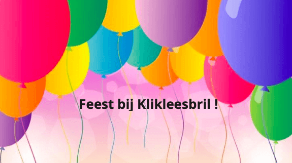Feest bij klikleesbril.nl